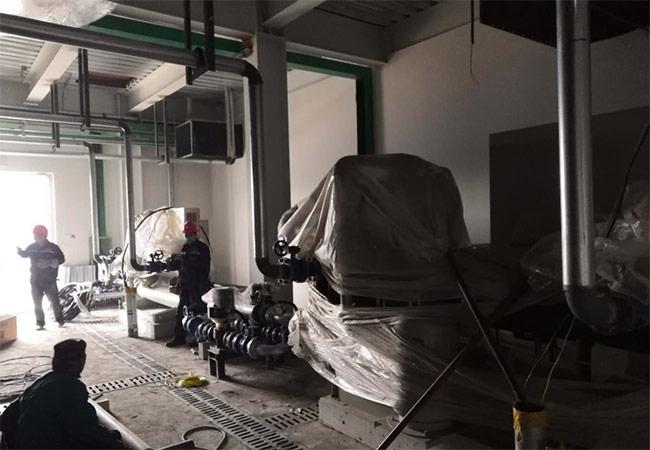 淄博桓台药厂冷水机房施工